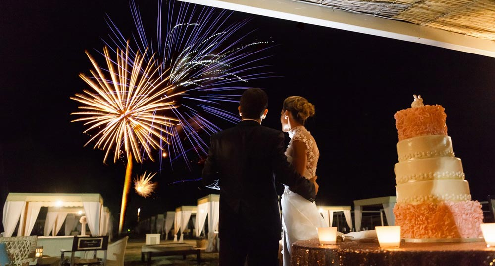 Fuochi d'artificio per matrimonio